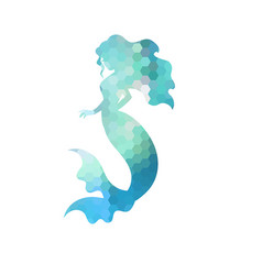 Silhouette of mermaid silhouette of mermaid vector