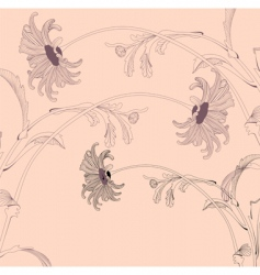 Stylized floral design vector