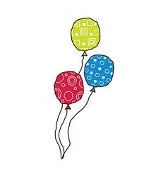 Three balloons vector
