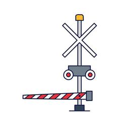 train barrier icon cartoon style train barrier vector image