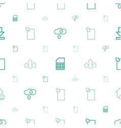 Upload icons pattern seamless white background vector