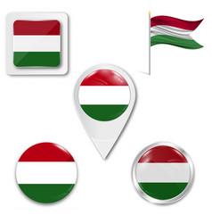 Version flag hungary for design vector