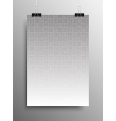Vertical Poster A4 Puzzle Pieces Grey Puzzles vector image