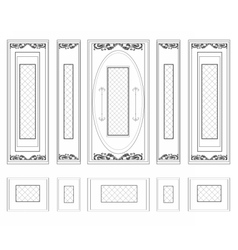 Wall Frames wainscoting ornament vector image