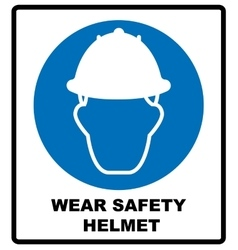 Wear a Safety Helmet Sign vector