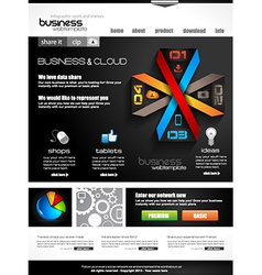 Website template for corporate business vector image