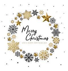 white golden merry christmas background vector image