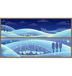 Winter landscapes vector