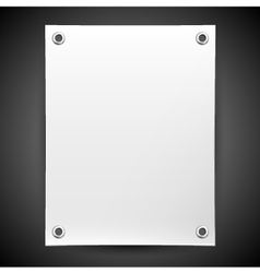 Blank white banner painted in the vector image vector image