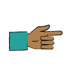 Business man hand pointing successful icon vector