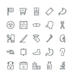 Medical and Health Cool Icons 6 vector image