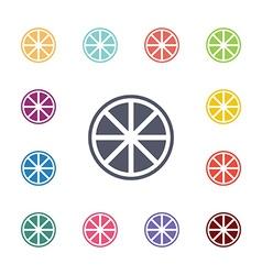 orange flat icons set vector image