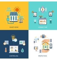 Smart house design concept flat vector image vector image