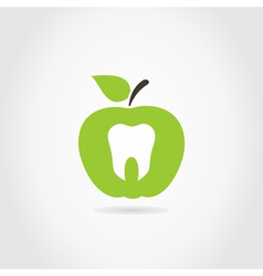 Apple a tooth vector image