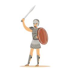 warrior character man in historical armor and vector image vector image