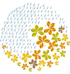 autumn graphic vector image vector image