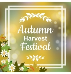 Autumn harvest festival vector image vector image