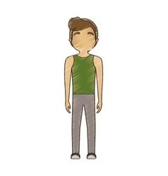 Drawing avatar man sport modern standing vector