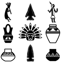 southwest artifacts vector image vector image