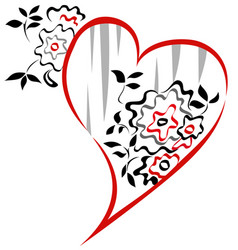 valentine floral graphic vector image vector image