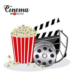 Cinema design vector image