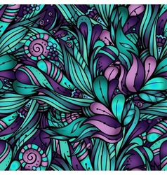 decorative nature ornamental seamless pattern vector image vector image
