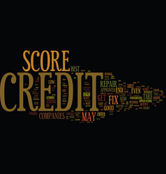 fix credit score text background word cloud vector image vector image