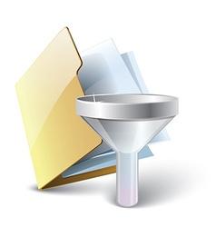 Folder filter icon vector image