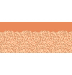 Geometric doodle texture horizontal seamless vector image vector image