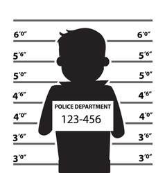 Mugshot of silhouette man vector