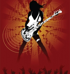 sexy rock chick vector image
