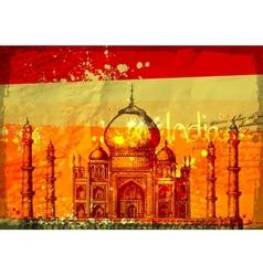 Taj Mahal India vintage hand drawn vector image vector image