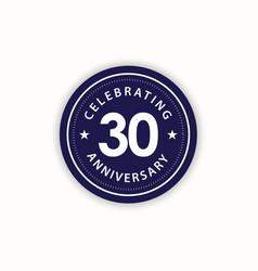 30 years anniversary celebrating retro vintage vector