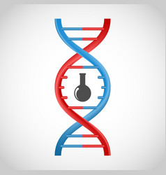 3D DNA icon vector