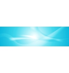 Abstract shiny blue wavy banner vector