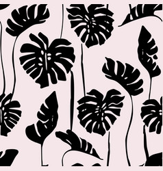 abstract tropical art seamless pattern monstera vector image