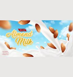 almond milk brand poster vector image