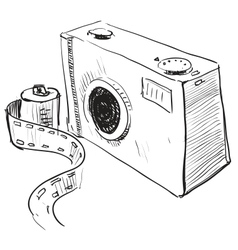 Analogue photo camera icon vector image