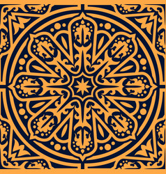 arabian traditional flourish seamless pattern vector image