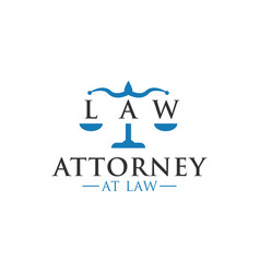 attorney at law logo icon graphic design template vector image