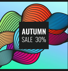 autumn discounts bright background vector image
