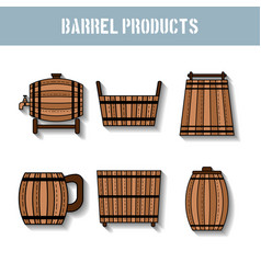 barrel products flat objects vector image