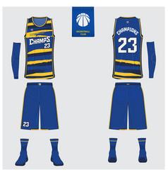 Basketball uniform mockup template design vector