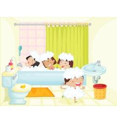 Bath time vector image