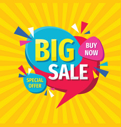 big sale concept banner template design discount vector image