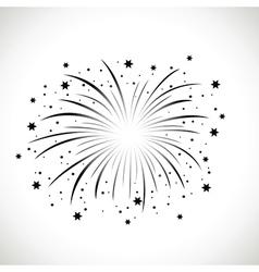 Black firework vector