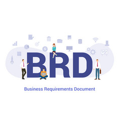 brd business requirements document concept with vector image