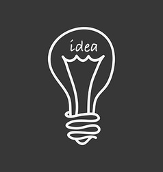 bulb idea design vector image