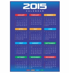 Calendar2015-A4 vector