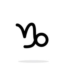 Capricorn zodiac icon on white background vector image